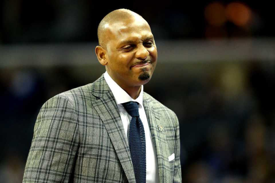 <strong>Memphis head coach Penny Hardaway reacts after one of his players fouls in the season opener against Tennessee Tech on Tuesday, Nov. 6, at FedExForum.</strong><strong>&nbsp;The Tigers went into half time with a lead over the Golden Eagles, 46-31.</strong><span>&nbsp;(Houston Cofield/Daily Memphian)</span>(Houston Cofield/Daily Memphian)