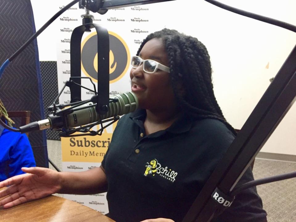 <strong>Kinyah Bean discusses B Chill Lemonade.</strong>