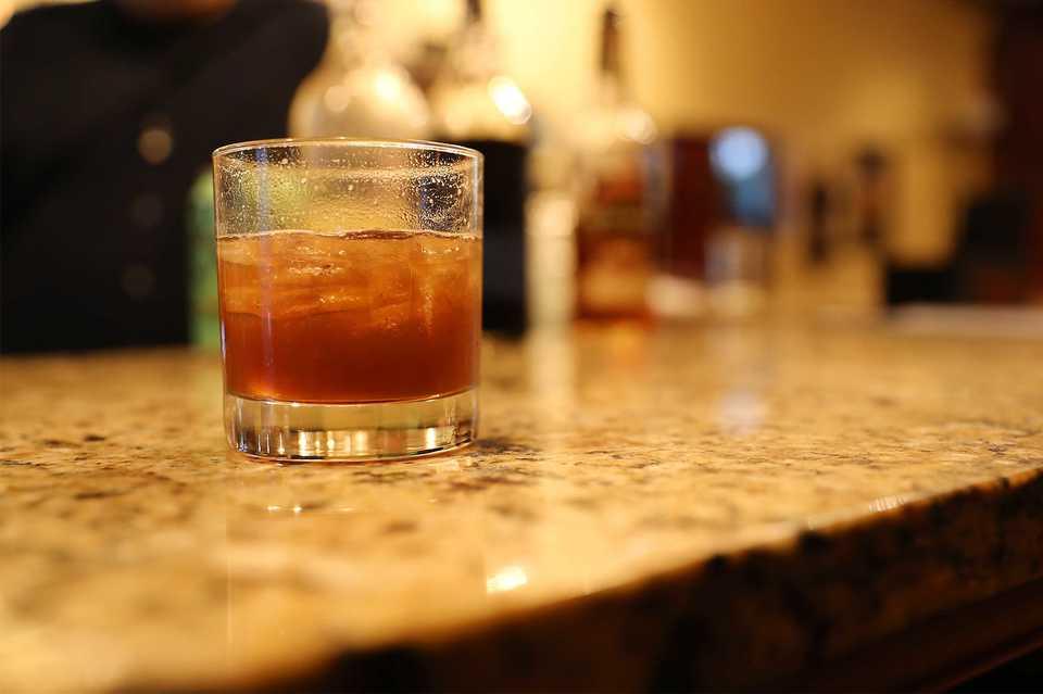 <strong>The Bar Talk cocktail was created on the spot by&nbsp;Belle Tavern&nbsp;owner/bartender Chris Ferri.</strong> (Patrick Lantrip/Daily Memphian)