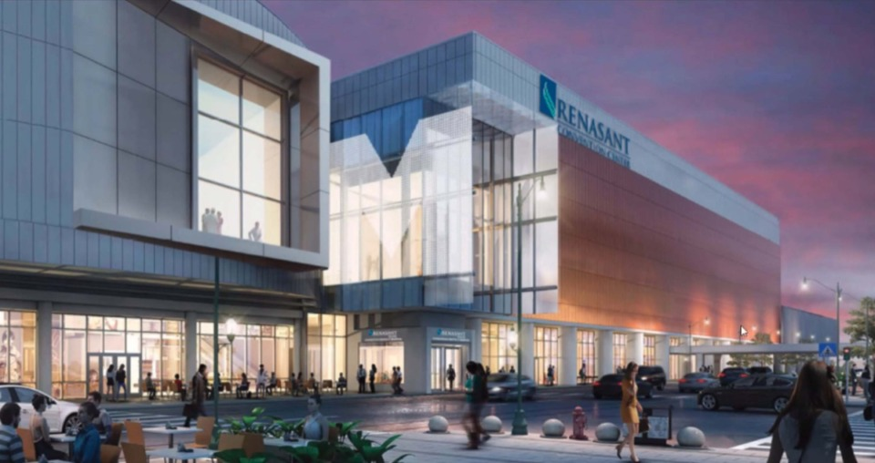 <strong>The city submitted an application with details of proposed signage for the $200 million Renasant Convention Center project.&nbsp;</strong>