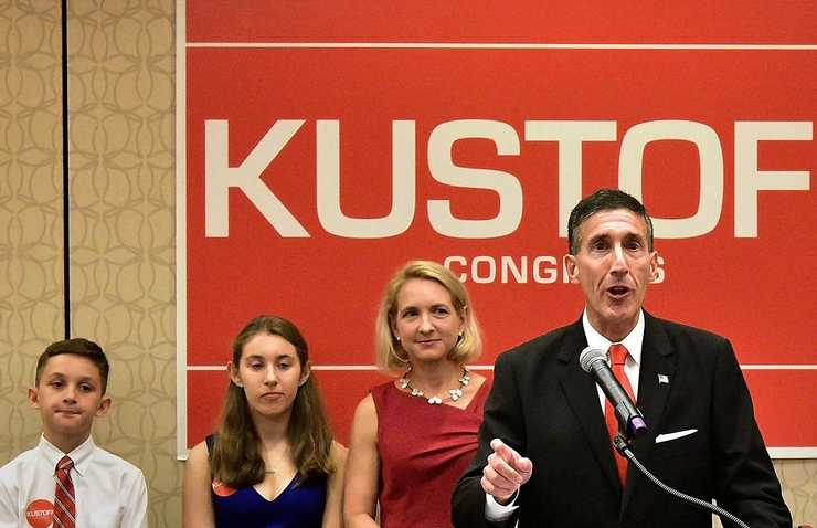 <strong>David Kustoff speaks to supporters during a campaign watch party on Nov. 6, 2018. Kustoff easily retained his 8th Congressional district seat.</strong> (Stan Carroll/Special To The Daily Memphian)