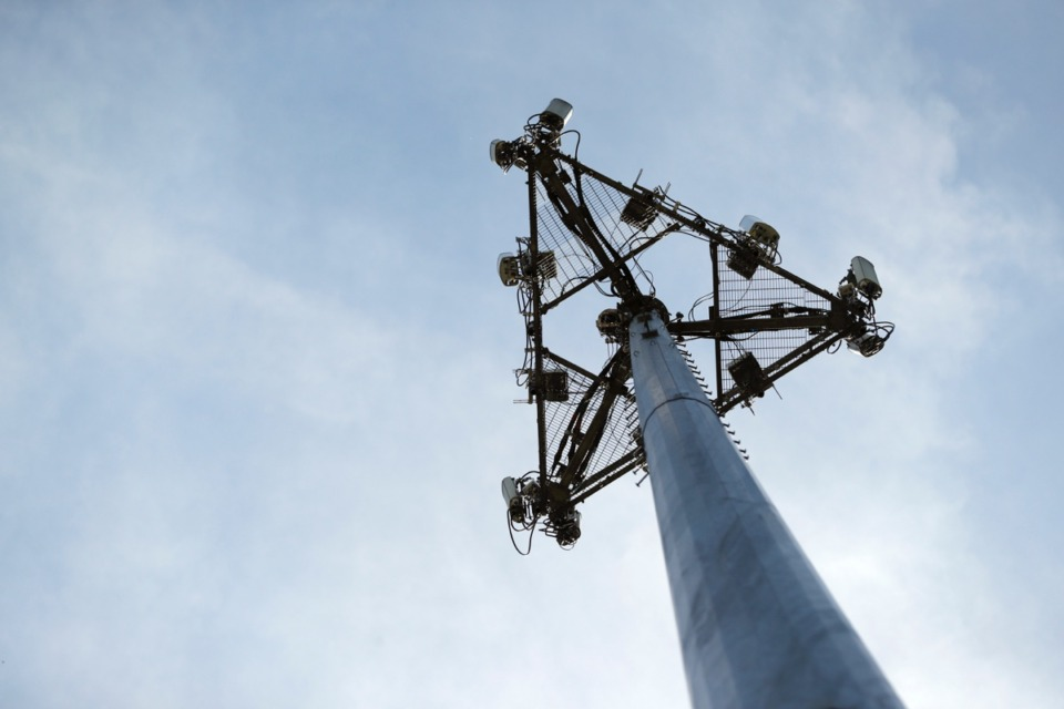 <strong>The Germantown Board of Education will consider a cell tower, like this one in High Ridge, Missouri, near Dogwood Elementary School.</strong> (Jeff Roberson/AP)