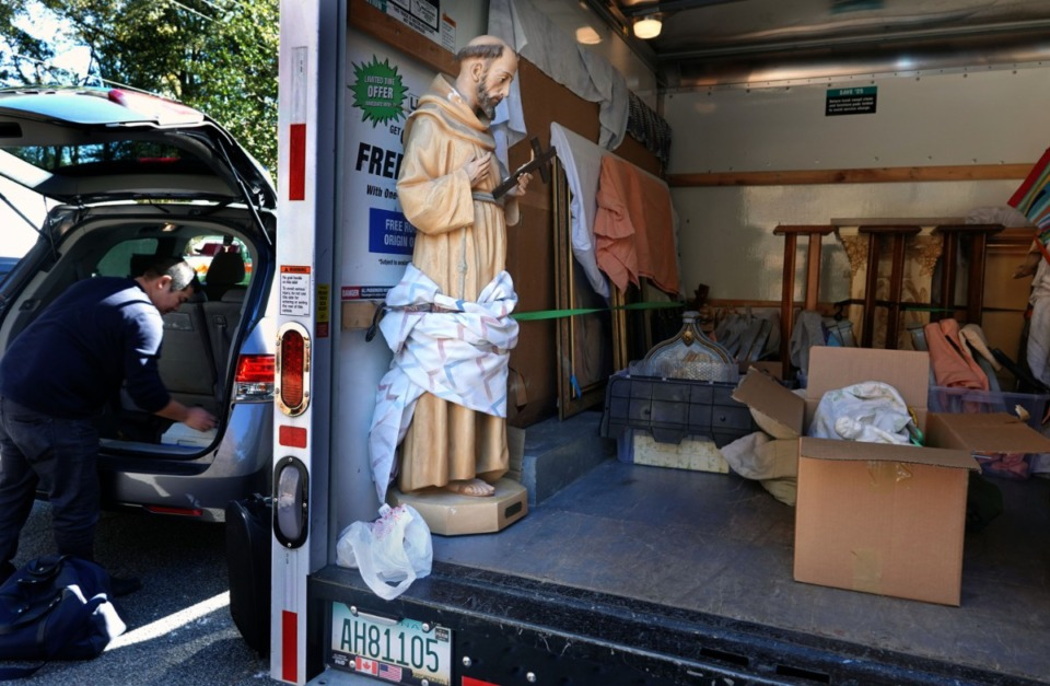 <strong>A moving van showed up to the Poor Clares monastery in mid-November 2019 to move some of the items including tabernacles, crosses, statues and pews that were going to other churches in the region.</strong> (Karen Pulfer Focht/Special to The Daily Memphian)