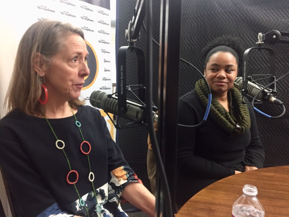 <span><strong>Wendy Holmes (left) from the Minneapolis-based Artspace and Sabrina Norwood from Young Actors Guild join this week's On The Ground Podcast.</strong> (Natalie Van Gundy/Daily Memphian)</span>