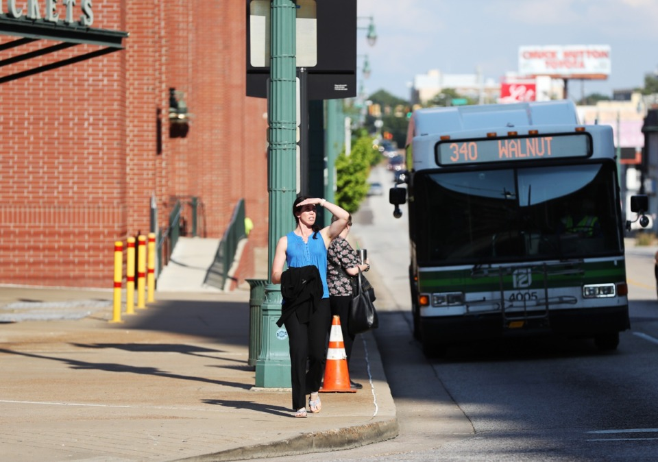 <strong><span>Shelby County officials are looking for ways to raise dollars for transit.&nbsp;</span>MATA buses stop at locations throughout the city including the corner of Union Avenue and South B.B. King Boulevard.</strong>&nbsp;(Daily Memphian file)