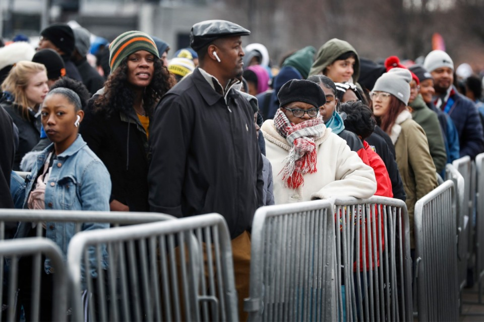 <strong>Thousands gathered outside the National Civil Rights Museum during the Dr. Martin Luther King Jr. Birthday Celebration Monday, Jan. 20.</strong> (Mark Weber/Daily Memphian)