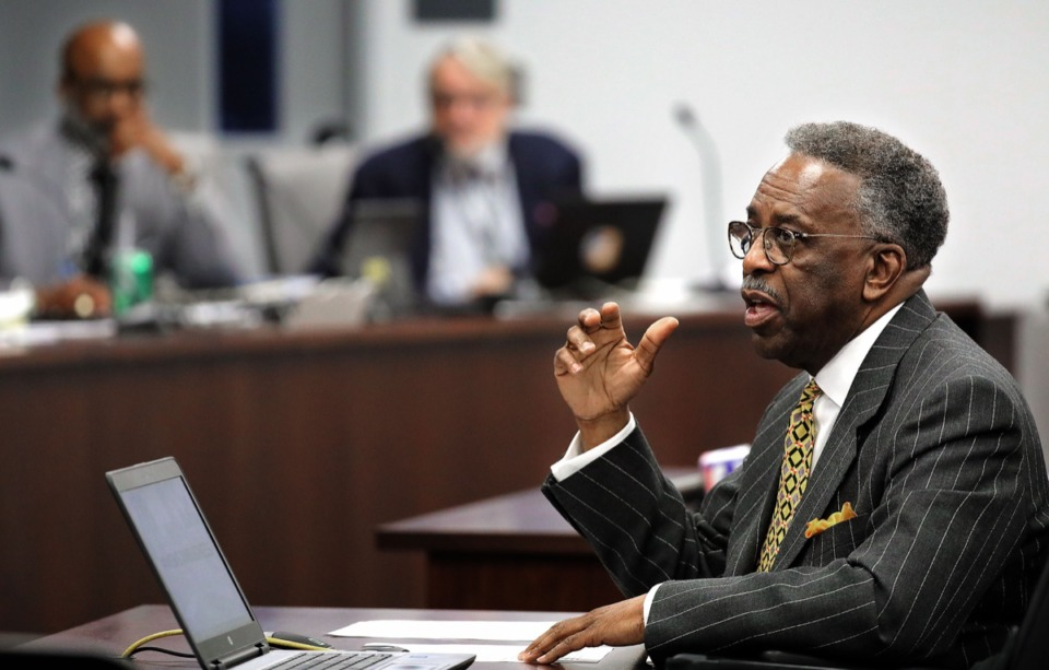 <strong>Houston-based businessman Lorenzo Williams presents his $600,000 blight remediation plan for Frayser to the Memphis City Council's Housing and Development Committee Jan. 21, 2020.</strong> (Patrick Lantrip/Daily Memphian)