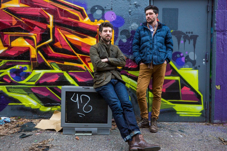 <strong>Austin Magruder and John Halford&nbsp;</strong>&mdash;&nbsp;<strong>in the alley behind 616 Marshall&nbsp;</strong>&mdash;&nbsp;<strong>are part of the team planning to transform the building in the Edge District.</strong><strong>&nbsp;Magruder is with PKM Architects, and Halford is with cnct development LLC.&nbsp;</strong>(Ziggy Mack/Special to The Daily Memphian)