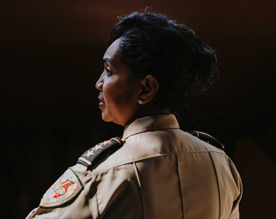 <strong>Rosalind Harrison, chief inspector of internal affairs&nbsp;for the Shelby County Sheriff's Office. Harrison is the highest-ranking African-American woman in the department.</strong> (Houston Cofield/Daily Memphian)