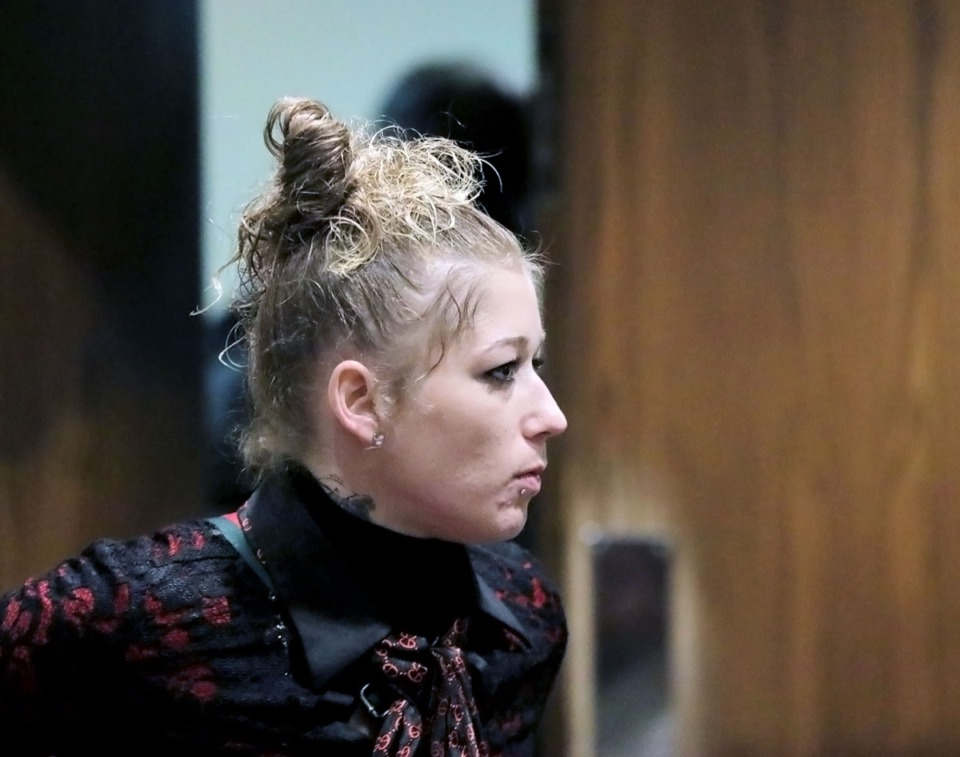 <strong>Bridgett Stafford appears in Criminal Court Judge Chris Craft's courtroom Jan. 29, 2020. Stafford was indicted by a grand jury and charged with theft of property between $1,000 and $2,500.</strong> (Patrick Lantrip/Daily Memphian)