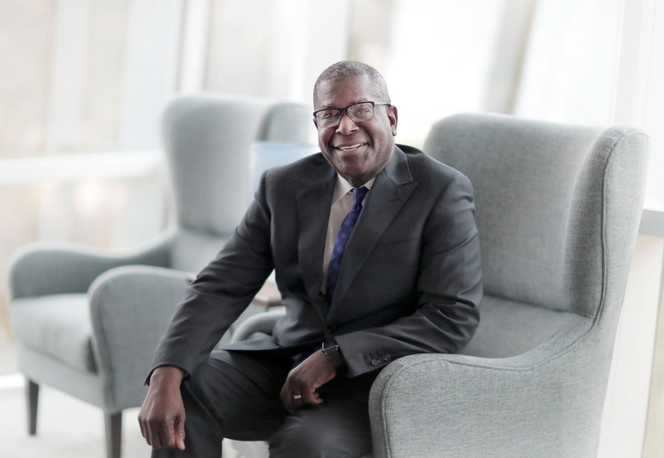 <strong>Shannon Brown, senior vice president of the FedEx Express Eastern Division U.S. Operations and chief diversity officer, started working for the company as a college student in 1978.&nbsp;</strong>(Jim Weber/Daily Memphian)