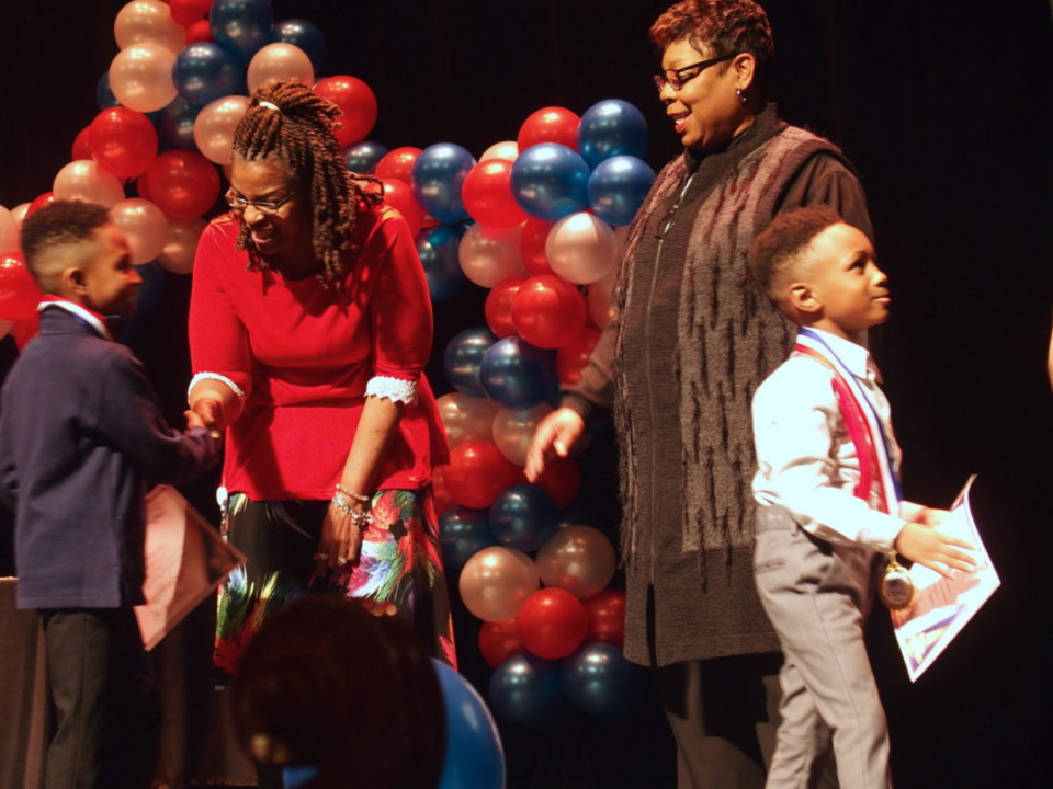 "<div class=""wp-caption-text""><strong>Shelby County Schools held an induction ceremony Jan. 23 to recognize the 600 students newly identified as gifted in kindergarten through second grade.&nbsp;</strong><span>(Laura Faith Kebede/Chalkbeat)</span></div>"