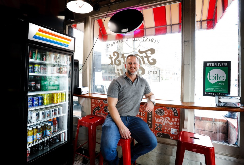 <strong>Jon Hodge is selling Front Street Deli, after rescuing the small downtown sandwich shop from a sale that would've changed its name three years ago.</strong> (Mark Weber/Daily Memphian)