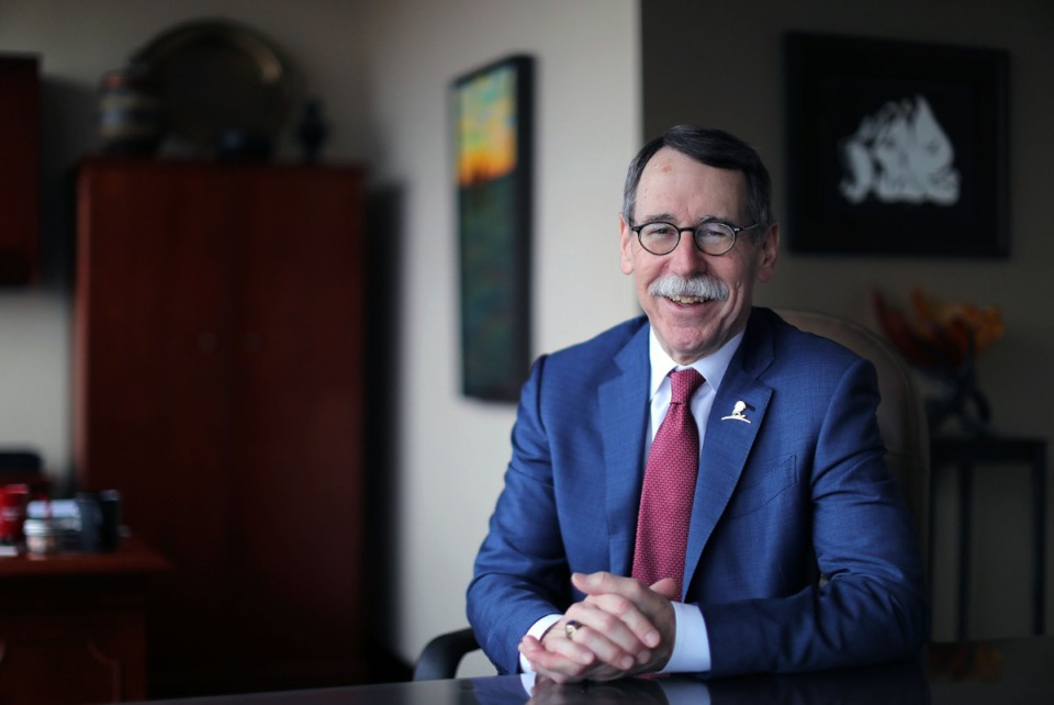 <strong>Dr. James Downing, president and CEO of St. Jude Children's Research Hospital, has been instrumental in the development and refinement of St. Jude's genomic sequencing operations for pediatric cancer.&nbsp;</strong>(Patrick Lantrip/Daily Memphian)