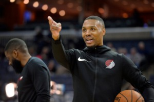 <strong>Portland Trail Blazers guard Damian Lillard is the hottest player in the NBA, and he and his team stand between the Memphis Grizzlies and an unlikely playoff berth.</strong> (AP Photo/Brandon Dill)