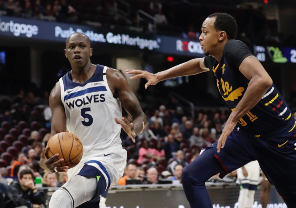 "<strong>""The way (the Grizzlies) play, everybody shoots the 3s,"" said new Grizzly Gorgui Dieng, seen here as a Timberwolf Jan. 5, 2020, in Cleveland.</strong> (Tony Dejak/AP)"