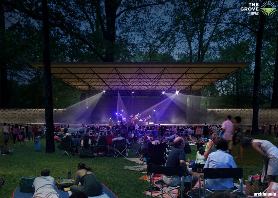 <strong>With demonstrated demand for an outdoor venue, the City of Germantown contributed $2.5 million toward completion of The Grove,&nbsp;which is&nbsp;opening to the public in May.</strong> (Rendering courtesy of archimania)