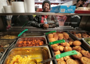 <strong>Daisy's Restaurant on South Third Street serves classic soul food on a&nbsp;menu that changes daily, with a repeat or two over the week.&nbsp;On Thursday, Feb. 13, the menu included baked chicken, lasagna and a variety of side items.</strong> (Jim Weber/Daily Memphian)