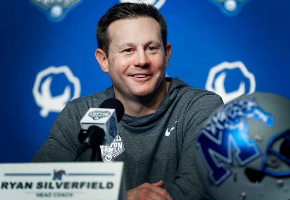 <strong>Memphis head coach Ryan Silverfield (at the Cotton Bowl Media Day on Dec. 26, 2019, in Arlington, Texas) has made additions to his staff.</strong> (Mark Weber/Daily Memphian file)