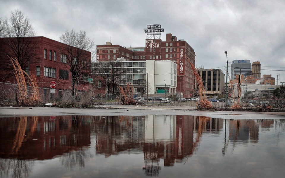 <strong>A new, four-story hotel is planned for Downtown, as new development continues to occur south of the FedExForum. The 110-room Home2Suites by Hilton, a mix of studios and suites, will be built at 135 Vance, according to a new building permit application.</strong> (Jim Weber/Daily Memphian)