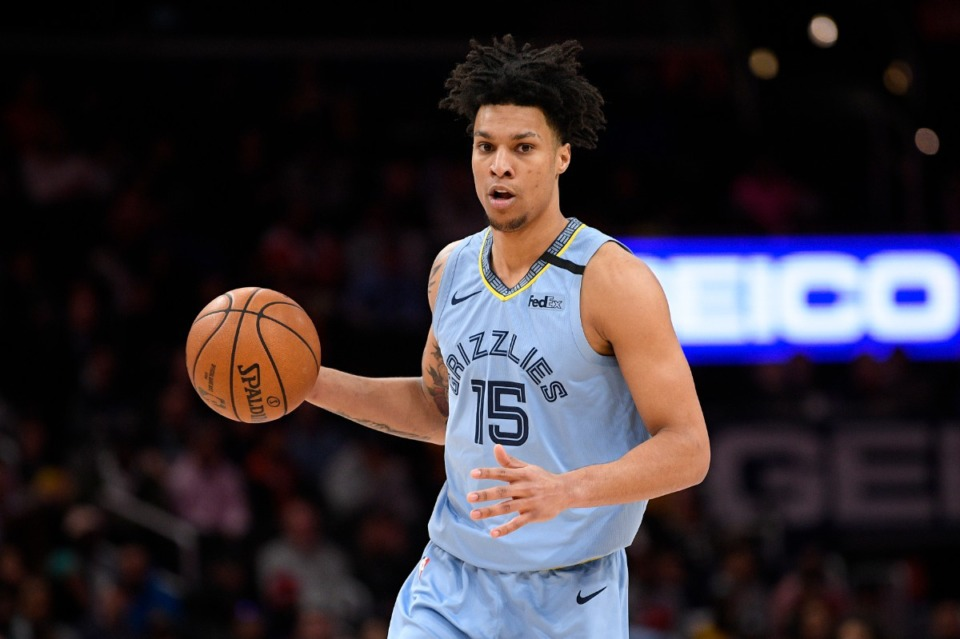 <strong>Memphis Grizzlies forward Brandon Clarke could be in line for a promotion to the starting lineup with Jaren Jackson Jr. out to injury.</strong> (AP Photo/Nick Wass)