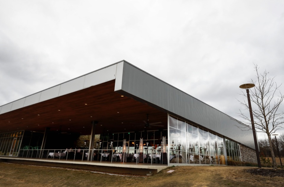 <strong>Patrons enjoy the view from Coastal Fish Company on Wednesday, Feb. 26, 2020 sits in the FedEx Event Center at Shelby Farms.</strong> (Mark Weber/Daily Memphian)