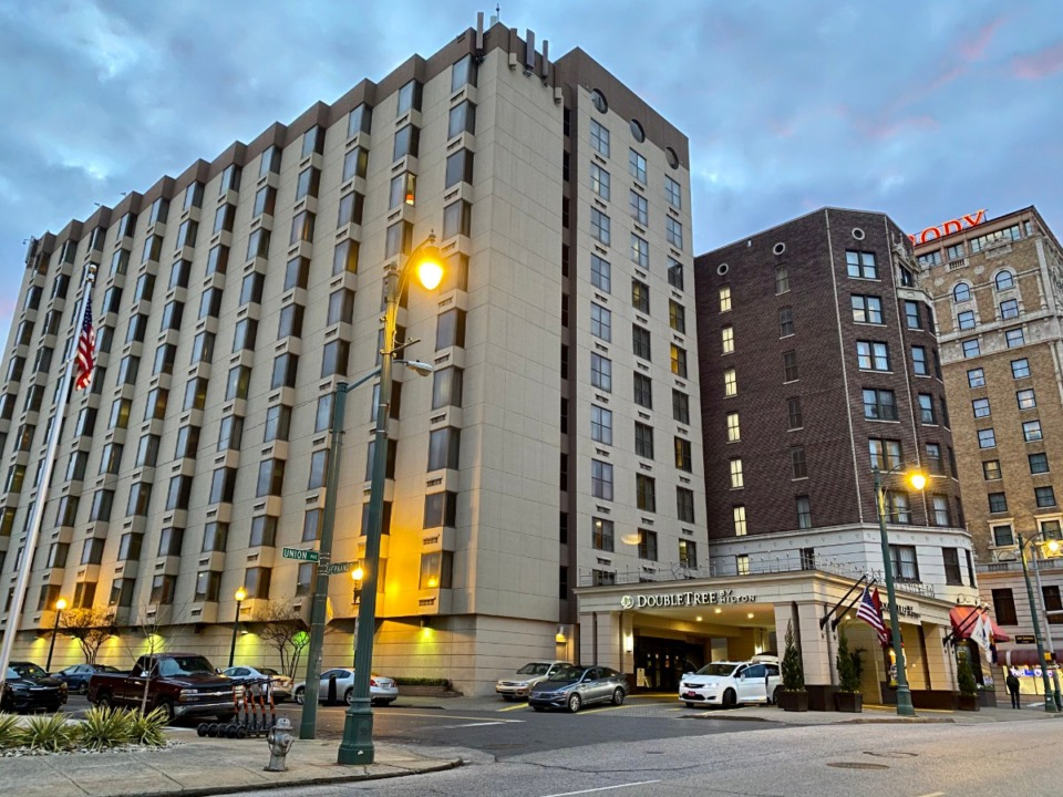 <strong>Now destined to become a boutique hotel within the Marriott Autograph Collection, the original part of DoubleTree by Hilton opened in 1927 as Hotel Tennessee.</strong> (Tom Bailey/Daily Memphian)