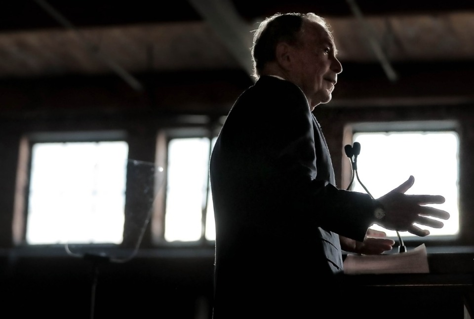 <strong>Bloomberg fans gather at Minglewood Hall as Democratic presidential contender Michael Bloomberg delivers his stump speech during a campaign stop in Memphis on Feb. 28, 2020.&nbsp;</strong>(Jim Weber/Daily Memphian)