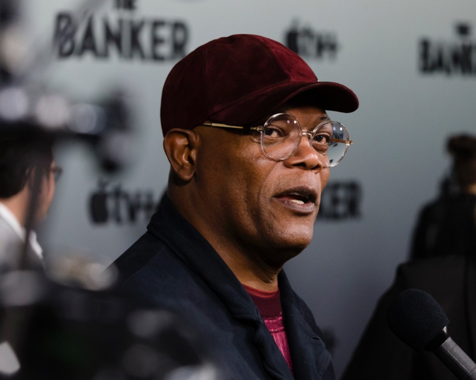 "<strong>Actor and Executive Producer of the film ""The Banker,"" Samuel L. Jackson, and other film industry appeared at the Apple TV+ film red carpet at the National Civil Rights Museum on March 2, 2020. </strong>(Ziggy Tucker/Daily Memphian)"