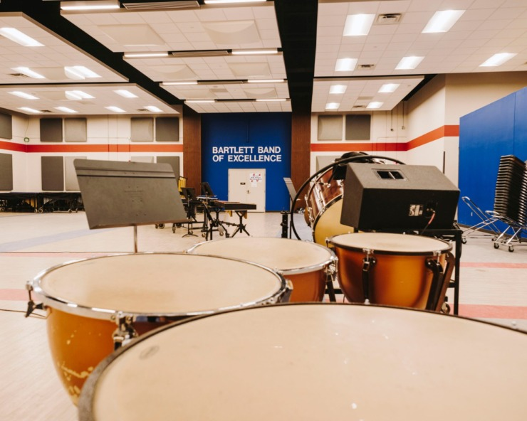 <strong>Bartlett High School is in the final stages of construction and has already completed the band classroom. The school has undergone extensive construction over the last year and is nearing completion.</strong> (Houston Cofield/Special To The Daily Memphian)