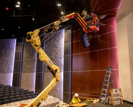 <strong>Construction for Bartlett High School's new 1000-seat theatre at Bartlett High School is nearing completion. The school has undergone major additions over the last year including new classrooms, auto and mechanics buildings and a cafeteria to name a few.</strong> (Houston Cofield/Special To The Daily Memphian)