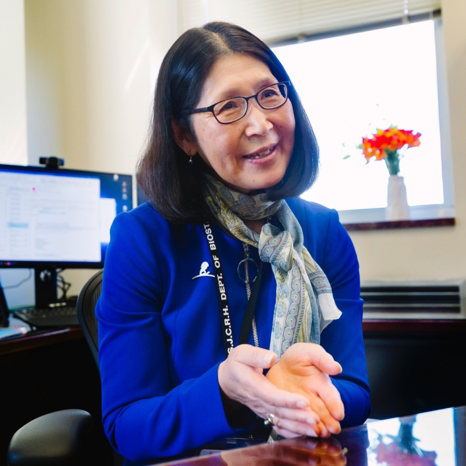 <strong>Dr. Motomi Mori, seen here Feb. 28, 2020, at St. Jude Children's Research Hospital, can link the hospital's pediatric genomic data to the reams of date that exist of each child's clinical visits, plus the reservoir of data on survivors.</strong> (Ziggy Tucker/Special to The Daily Memphian)