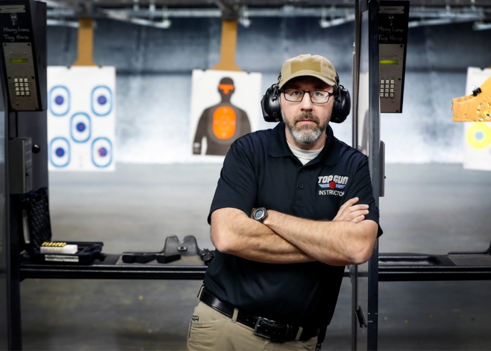 <strong>Will Dougan, director of training and safety, stands in the Top Gun firing range on March 6, 2020, in Barltett. There are 16 states in the nation that have permitless &ldquo;constitutional&rdquo; carry laws on their books and Tennessee is looking to join them.</strong> (Mark Weber/Daily Memphian)