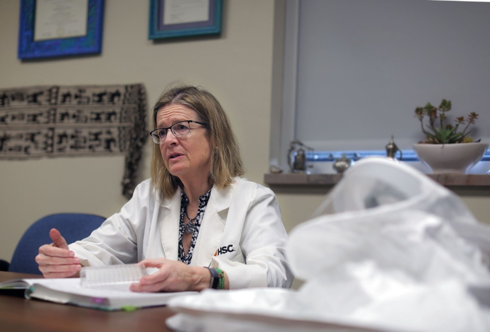 <strong>University of Tennessee Health Science Center&rsquo;s Dr. Colleen Jonsson talks about her research on the coronavirus in her Medical District office March, 10, 2020.</strong> (Patrick Lantrip/Daily Memphian)