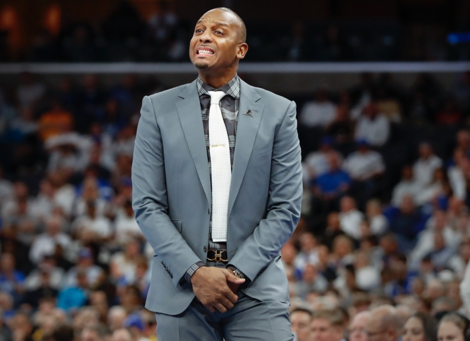 <strong>Memphis head coach Penny Hardaway reacts to the Tigers&rsquo; play against Wichita State Thursday, March 5, 2020, at FedExForum. If they make a movie of this season, he's ready for his close-up.</strong> (Mark Weber/Daily Memphian)
