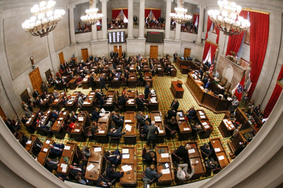 <strong>Tennessee House Speaker Cameron Sexton on Wednesday, March 11, rejected a lawmaker&rsquo;s request to adjourn the House temporarily until the coronavirus pandemic passes. (This image, taken with a fisheye lens, is of the first day of the 2020 legislative session, on Jan. 14, in Nashville.) Sexton said his office is monitoring the &ldquo;evolving coronavirus situation&rdquo; and maintaining contact with Gov. Bill Lee, Lt. Gov. Randy McNally and state agencies.</strong>&nbsp;(Mark Humphrey/Associated Press file photo)