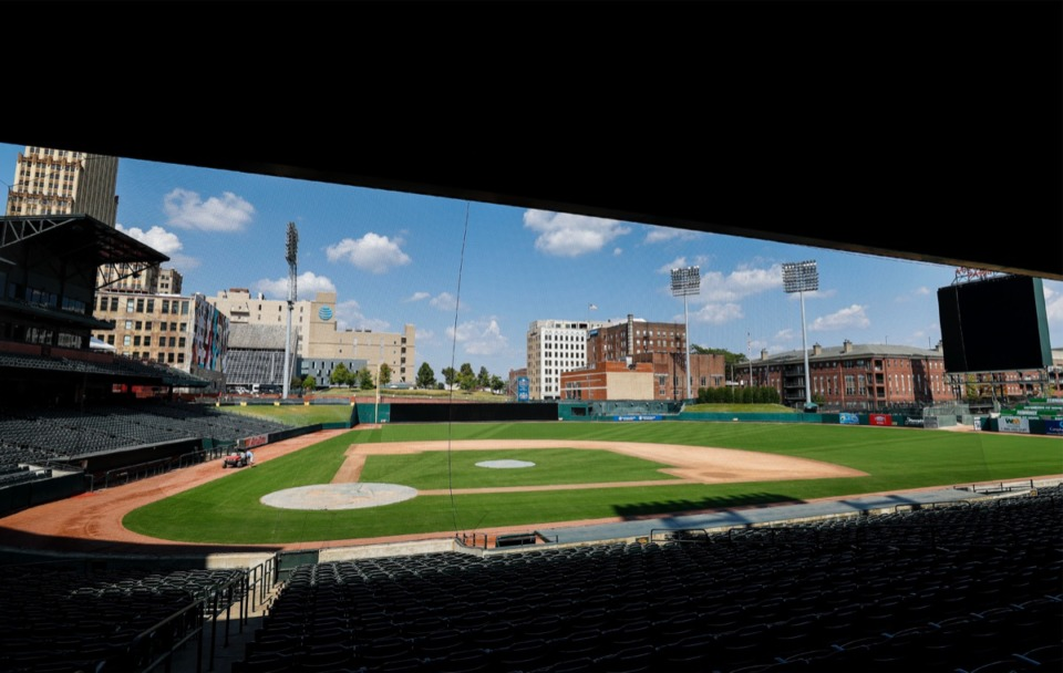 <strong>AutoZone Park, seen here in September 2019, is doing the same thing as the Redbirds: waiting.</strong> (Mark Weber/Daily Memphian)
