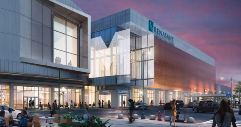 <strong>MFA's project&nbsp;is the $200 million renovation of the Renasant Convention Center (formerly Memphis Cook Convention Center), which is still under construction.</strong>&nbsp;(Rendering courtesy of Oakhurst Building Brands)