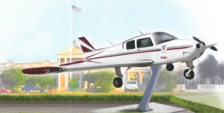 <strong>The airplane would be mounted on a 10-foot-tall pedestal in front of East High.</strong> (Credit:&nbsp; Shelby County Schools)