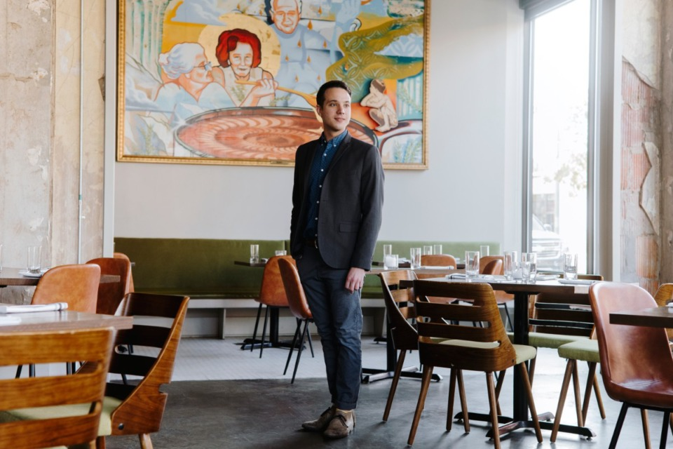 <strong>Nick Talarico stands inside Catherine and Mary's in Downtown Memphis in October 2018. &ldquo;We're trying to batten down for whatever comes next,&rdquo; he said.</strong> (Houston Cofield/Daily Memphian file)