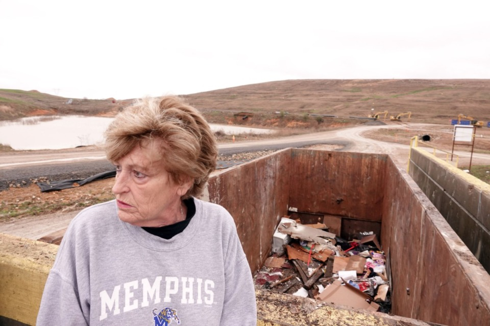<strong>Rape victim Debby Dahlhoff visits a landfill where she believes evidence in her case may have been dumped by Memphis Police Department employees. A retired official says the agency destroyed evidence in possibly thousands of cases by tossing boxes of items in local landfills in a series property room housecleaning ventures&nbsp; in the 1990s. </strong>(Karen Pulfer Focht/Special to The Daily Memphian)