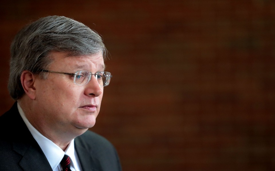 <strong>Memphis Mayor Jim Strickland (shown Friday, March 20, before going into a daily press briefing)&nbsp;announced Monday, March 23, he is putting the city under a two-week shelter-in-place order beginning at 6 p.m. Tuesday. &ldquo;We are in a serious, unprecedented time which calls for decisive action to keep everyone safe,&rdquo; Strickland said.</strong> (Jim Weber/Daily Memphian)