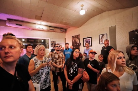 <strong>Tours of Sun Studio, like this one on July 9, 2019, are not happening now as the Memphis tourist attraction remains closed until further notice.</strong> (Jim Weber/Daily Memphian file)
