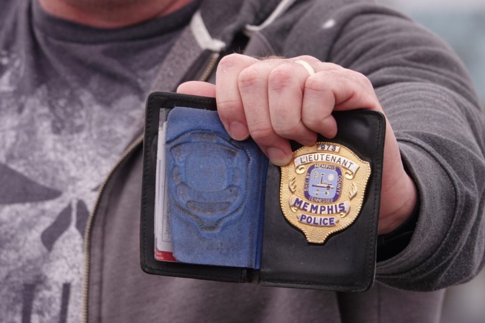 <strong>Retired Memphis police detective Cody Wilkerson once carried this badge. The former sex crimes detective testified about the mishandling of numbers of rape investigations by Memphis Police Department. MPD confirmed in 2013 it was holding 12,000 older rape kits, many never tested for DNA. Evidence suggests other kits were lost or destroyed. Many victims are still seeking justice, answers and closure from cases dating back 30 years or more.</strong> (Karen Pulfer Focht/Special to The Daily Memphian)
