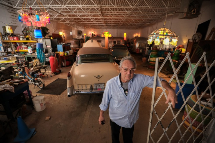 "<strong>Tad Pierson is captured with his 1955 Cadillac as part of Jamie Harmon's project of life during coronavirus. ""Jamie will do a wedding,"" Pierson said, ""but he's also a very creative guy and has a body of work.""</strong> (Submitted by Jamie Harmon)"