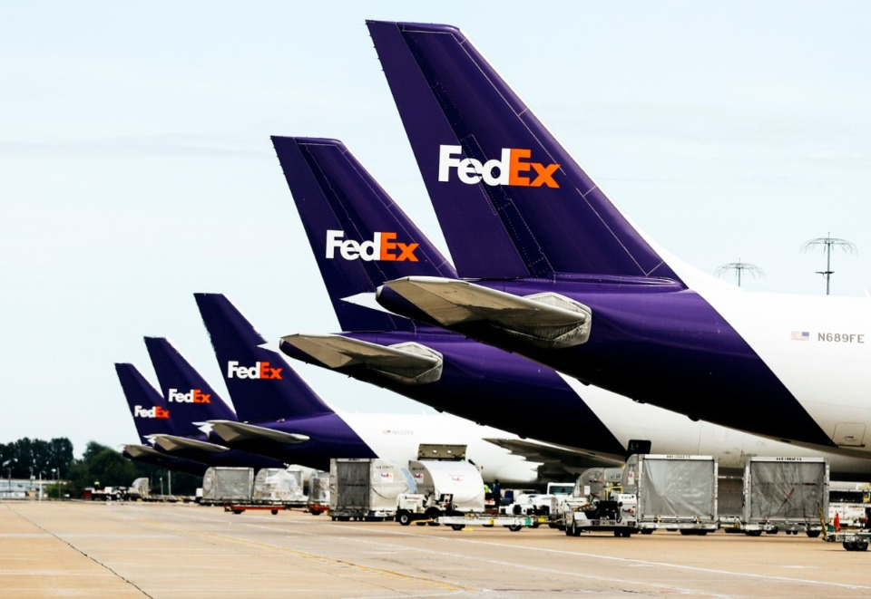 <strong>As this 2018 photo indicates, FedEx has the resources to move COVID-19 test specimens in bulk.</strong> (Houston Cofield/Daily Memphian file)