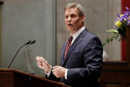<strong>Gov. Bill Lee says he is working with Vanderbilt University Medical Center in Nashville to come up with projections on the spread of coronavirus in Tennessee.</strong> (Mark Humphrey/Associated Press file)