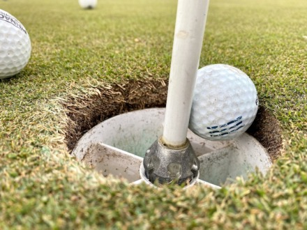 <strong>One way Mirimichi golf course fights the spread of COVID-19 is making the holes shallow so that golfers can retrieve their balls without touching the hole liner.</strong> (Tom Bailey/The Daily Memphian)
