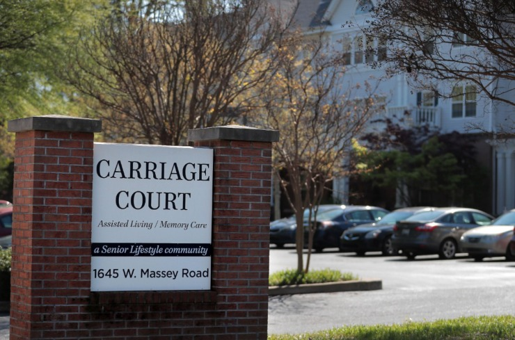 <strong>At the Carriage Court assisted living facility in East Memphis five residents and an employee tested positive for COVID-19.</strong> (Jim Weber/Daily Memphian)