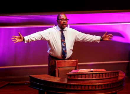 <strong>First Baptist Broad Senior Pastor Keith Norman directs his staff before a taping of a bible study session on Tuesday, March 31, 2020.</strong> (Mark Weber/ The Daily Memphian)